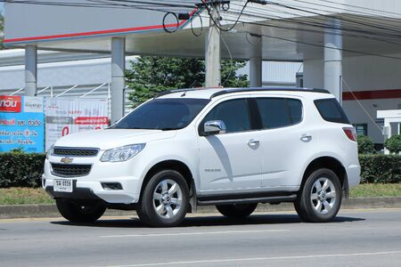 CHIANGMAI, THAILAND -OCTOBER  17 2015:  Private car, Chevrolet trailblazer. Photo at road no 121 about 8 km from downtown Chiangmai, thailand.