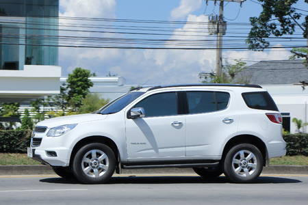 trailblazer: CHIANGMAI, THAILAND -OCTOBER  17 2015:  Private car, Chevrolet trailblazer. Photo at road no 121 about 8 km from downtown Chiangmai, thailand.