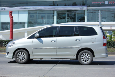 CHIANGMAI, THAILAND -OCTOBER  20 2015:   Private MPV Car, Toyota Innova. Photo at road no 121 about 8 km from downtown Chiangmai, thailand. Editorial
