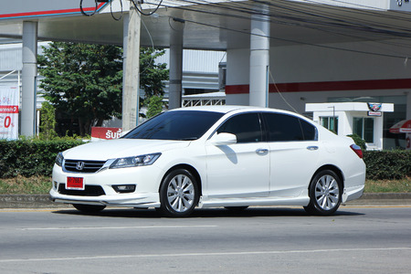 accord: CHIANGMAI, THAILAND -OCTOBER  23 2015:   Private car, Honda accord. Photo at road no.121 about 8 km from Chiangmai Downtown, thailand. Editorial