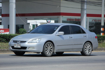 accord: CHIANGMAI, THAILAND -OCTOBER  26 2015:   Private car, Honda accord. Photo at road no.121 about 8 km from Chiangmai Downtown, thailand.