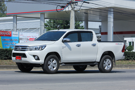 CHIANGMAI, THAILAND -OCTOBER  27 2015: Private Pickup car, Toyota Hilux Revo. Photo at road no 121 about 8 km from downtown Chiangmai, thailand.