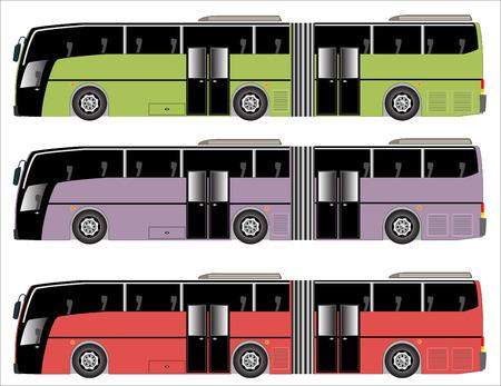 motor coach: Public Transit, Long city Bus Illustration