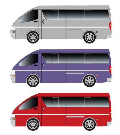 motor coach: Passenger Van car Stock Photo
