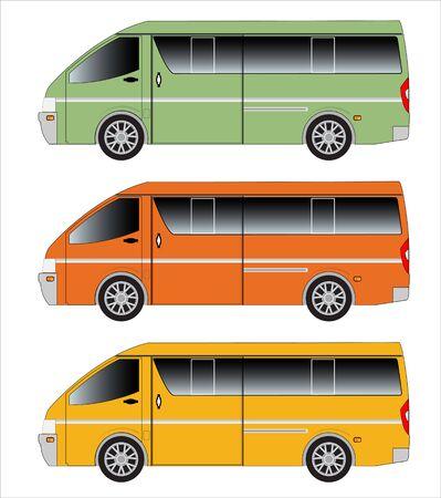 the passenger: Passenger Van car Stock Photo