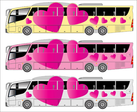 highway love: Love theme on highway bus