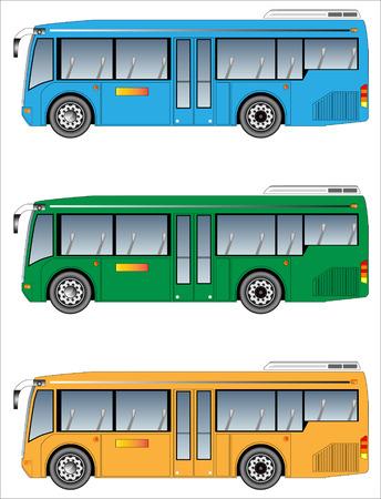 low floor: Low floor city bus Illustration