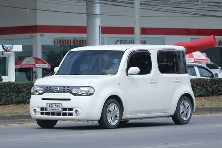 CHIANGMAI, THAILAND -NOVEMBER  3 2015: Private Nissan Cube, Mini van. Photo at road no.121 about 8 km from downtown Chiangmai, thailand.