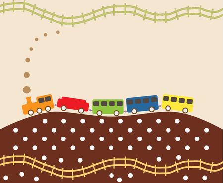 steam train: Vintage Steam Train pattern