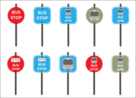 sign: Bus stop Sign