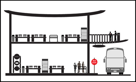 bus stop: Bus stop station