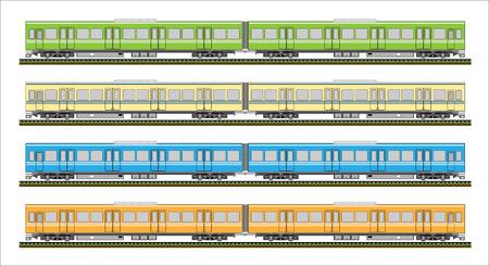 railcar: Diesel Railcar train Illustration