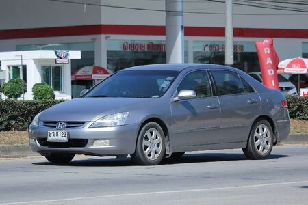accord: CHIANGMAI, THAILAND -NOVEMBER 5 2015:   Private car, Honda accord. Photo at road no.121 about 8 km from Chiangmai Downtown, thailand.