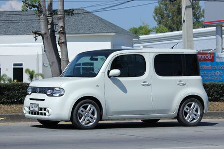 toyota: CHIANGMAI, THAILAND -NOVEMBER 6 2015:  Private Nissan Cube, Mini van. Photo at road no.121 about 8 km from downtown Chiangmai, thailand. Editorial