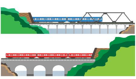 railcar: Diesel Railcar train and tunnel Illustration