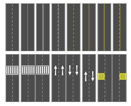 symbol traffic: Top view road and sign Illustration
