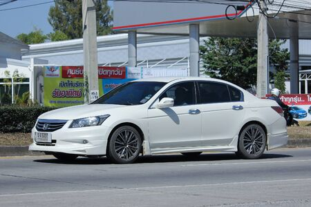 accord: CHIANGMAI, THAILAND -NOVEMBER 6 2015:  Private car, Honda accord. Photo at road no.121 about 8 km from Chiangmai Downtown, thailand. Editorial