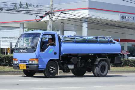 septic tank: CHIANGMAI, THAILAND -NOVEMBER 12 2015:  Private of Sewage truck. Photo at road no.121 about 8 km from downtown Chiangmai, thailand. Editorial