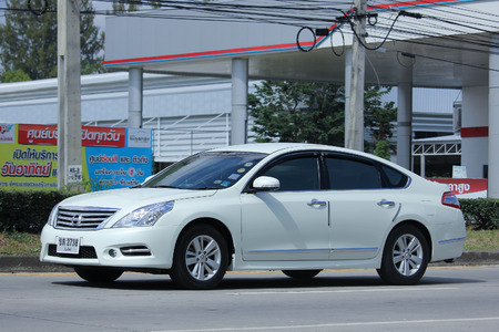 8   12: CHIANGMAI, THAILAND -NOVEMBER 12 2015:    Private car, Nissan Teana. Photo at road no 121 about 8 km from downtown Chiangmai, thailand. Editorial