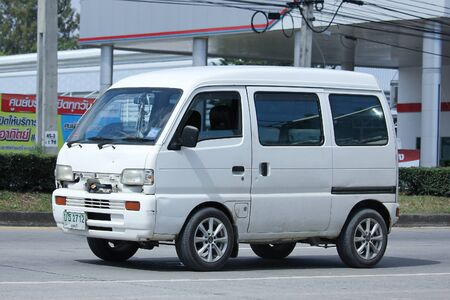 8 12: CHIANGMAI, THAILAND -NOVEMBER 12 2015:   Private Daihatsu old Van Car. Photo at road no.1001 about 8 km from downtown Chiangmai, thailand.