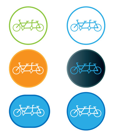 tandem bicycle: Tandem bicycle  icon Illustration