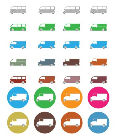 car: Van car icon Illustration