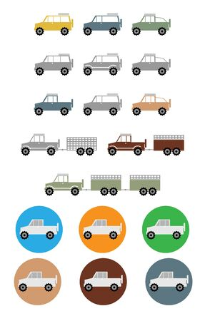 4x4: Off road truck  icon Illustration