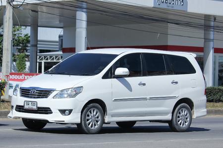 mpv: CHIANGMAI, THAILAND -NOVEMBER 24 2015: Private MPV Car, Toyota Innova. Photo at road no 121 about 8 km from downtown Chiangmai, thailand.