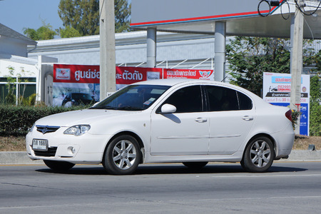 persona: CHIANGMAI, THAILAND -DECEMBER 11 2015:  Private car, Proton Persona. Photo at road no.121 about 8 km from downtown Chiangmai, thailand. Editorial