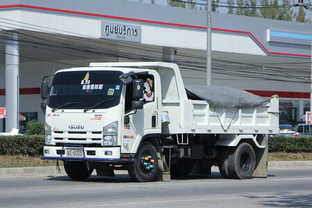 highway 6: CHIANGMAI, THAILAND -FEBRUARY 2 2016:   Dump Truck of Sor Service Transport. Photo at road no.121 about 8 km from downtown Chiangmai, thailand. Editorial
