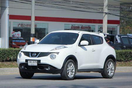 nissan: CHIANGMAI, THAILAND -FEBRUARY 4 2016: Private car, Nissan Juke. On road no.1001, 8 km from Chiangmai city.