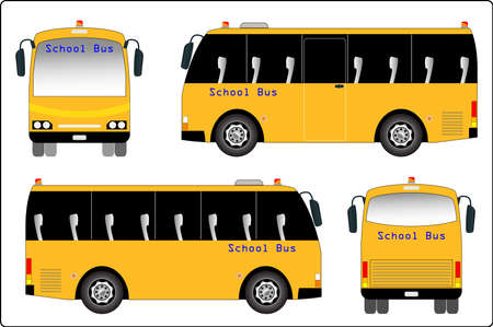yellow schoolbus: School bus