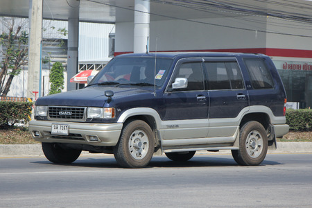 trooper: CHIANGMAI, THAILAND -FEBRUARY 11 2016:   Private car, Isuzu Trooper.    On road no.1001, 8 km from Chiangmai city.