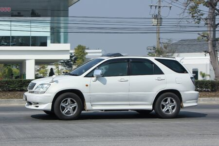 8   12: CHIANGMAI, THAILAND -FEBRUARY 12 2016:  Private Suv car Lexus RX300.   On road no.1001, 8 km from Chiangmai city. Editorial