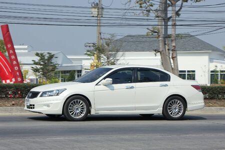 accord: CHIANGMAI, THAILAND -FEBRUARY 16 2016:   Private car, Honda accord.  On road no.1001, 8 km from Chiangmai city.