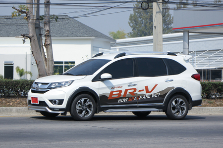 br: CHIANGMAI, THAILAND -FEBRUARY 16 2016:    Private New suv car, Honda BRV.   On road no.1001, 8 km from Chiangmai city. Editorial