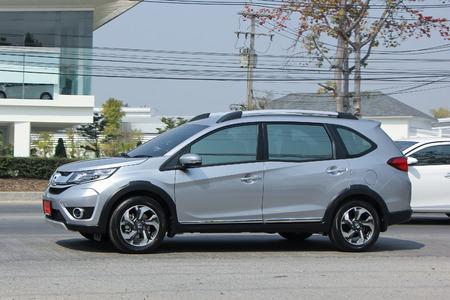 HONDA: CHIANGMAI, THAILAND -FEBRUARY 18 2016:   Private New suv car, Honda BRV.  On road no.1001, 8 km from Chiangmai city. Editorial