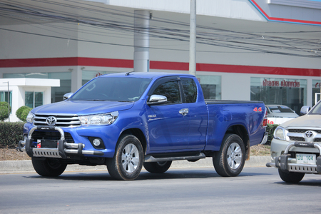 CHIANGMAI, THAILAND -FEBRUARY 20 2016:  Private New Product Pickup car from Toyota, Hilux Revo.    On road no.1001, 8 km from Chiangmai city.