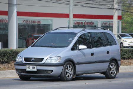 chevrolet: CHIANGMAI, THAILAND -FEBRUARY 22 2016:  Private SUV car, Chevrolet Zafira.   On road no.1001, 8 km from Chiangmai city. Editorial