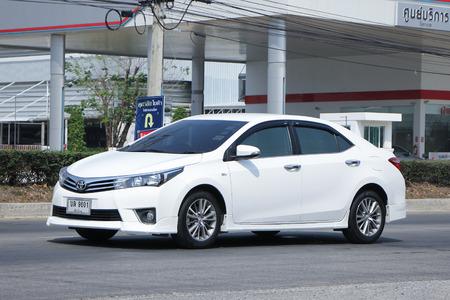 corolla: CHIANGMAI, THAILAND -FEBRUARY 22 2016:  Private car, Toyota Corolla Altis.   On road no.1001, 8 km from Chiangmai city.