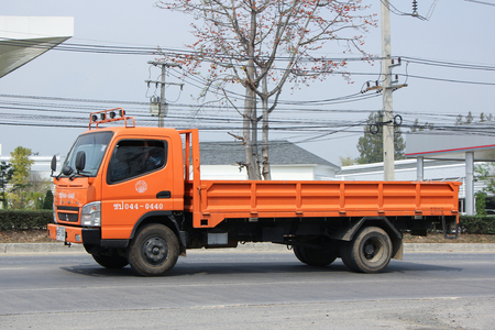 wetting: CHIANGMAI, THAILAND -FEBRUARY 25 2016:   Truck of Thailand Royal Irrigation Department. On road no.1001, 8 km from Chiangmai city. Editorial