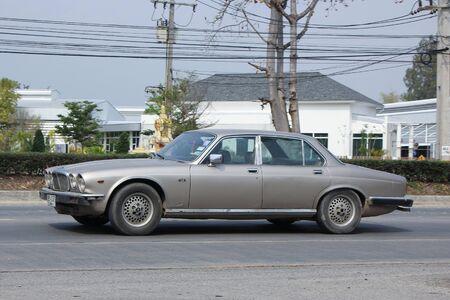 daimler: CHIANGMAI, THAILAND -FEBRUARY 25 2016: Private Daimler Double-Six SIII  old Car. Photo at road no.1001 about 8 km from downtown Chiangmai, thailand.