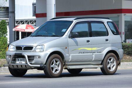 proton: CHIANGMAI, THAILAND -FEBRUARY 29 2016:  Private Proton Perodua Kembara. Mini Suv Car for Urbun User. On road no.1001, 8 km from Chiangmai city. Editorial
