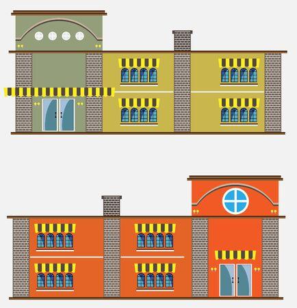 modern restaurant: Modern restaurant building Illustration