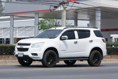 trailblazer: CHIANGMAI, THAILAND -MARCH 10 2016:  Private SUV car, Chevrolet Trailblazer. On road no.1001, 8 km from Chiangmai city.