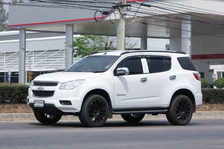 CHIANGMAI, THAILAND -MARCH 10 2016:  Private SUV car, Chevrolet Trailblazer. On road no.1001, 8 km from Chiangmai city.