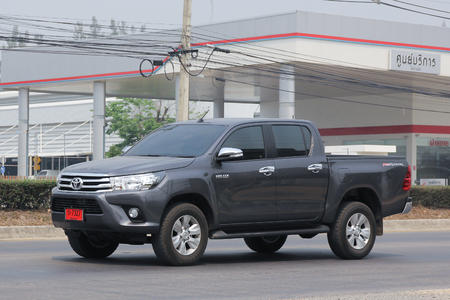 CHIANGMAI, THAILAND -MARCH 11 2016:  Private Pickup car, Toyota Hilux Revo. Photo at road no 121 about 8 km from downtown Chiangmai, thailand.