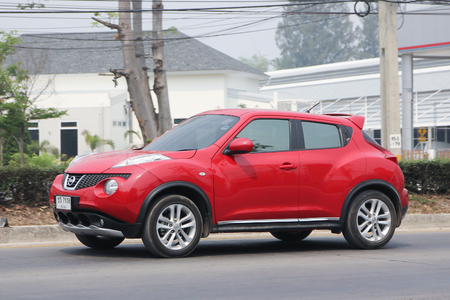nissan: CHIANGMAI, THAILAND -MARCH 11 2016:  Private car, Nissan Juke. On road no.1001, 8 km from Chiangmai city. Editorial