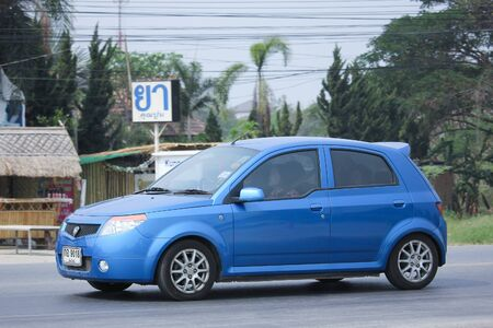 savvy: CHIANGMAI, THAILAND -MARCH 12 2016:   Private Proton Savvy. Product of Malaysia Country. On road no.1001, 8 km from Chiangmai city.