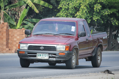 toyota: CHIANGMAI, THAILAND -MARCH 12 2016:   Private Pickup car, Toyota Hilux. Photo at road no 121 about 8 km from downtown Chiangmai, thailand.